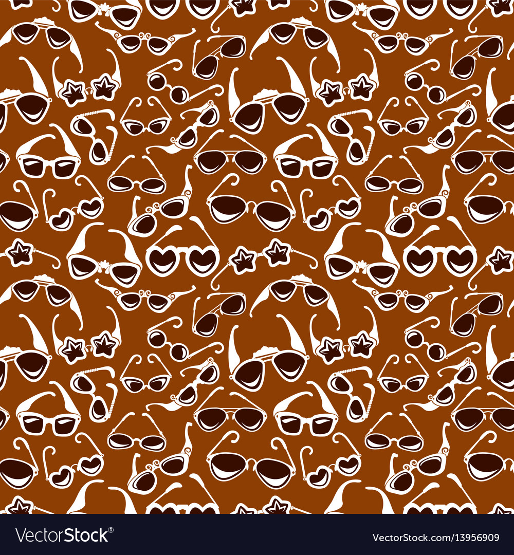 Seamless pattern in retro style with sunglasses