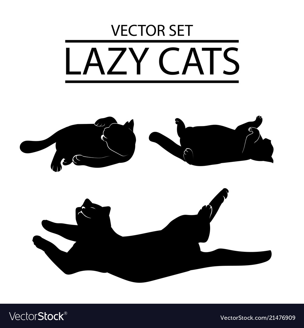Set of three cat icons