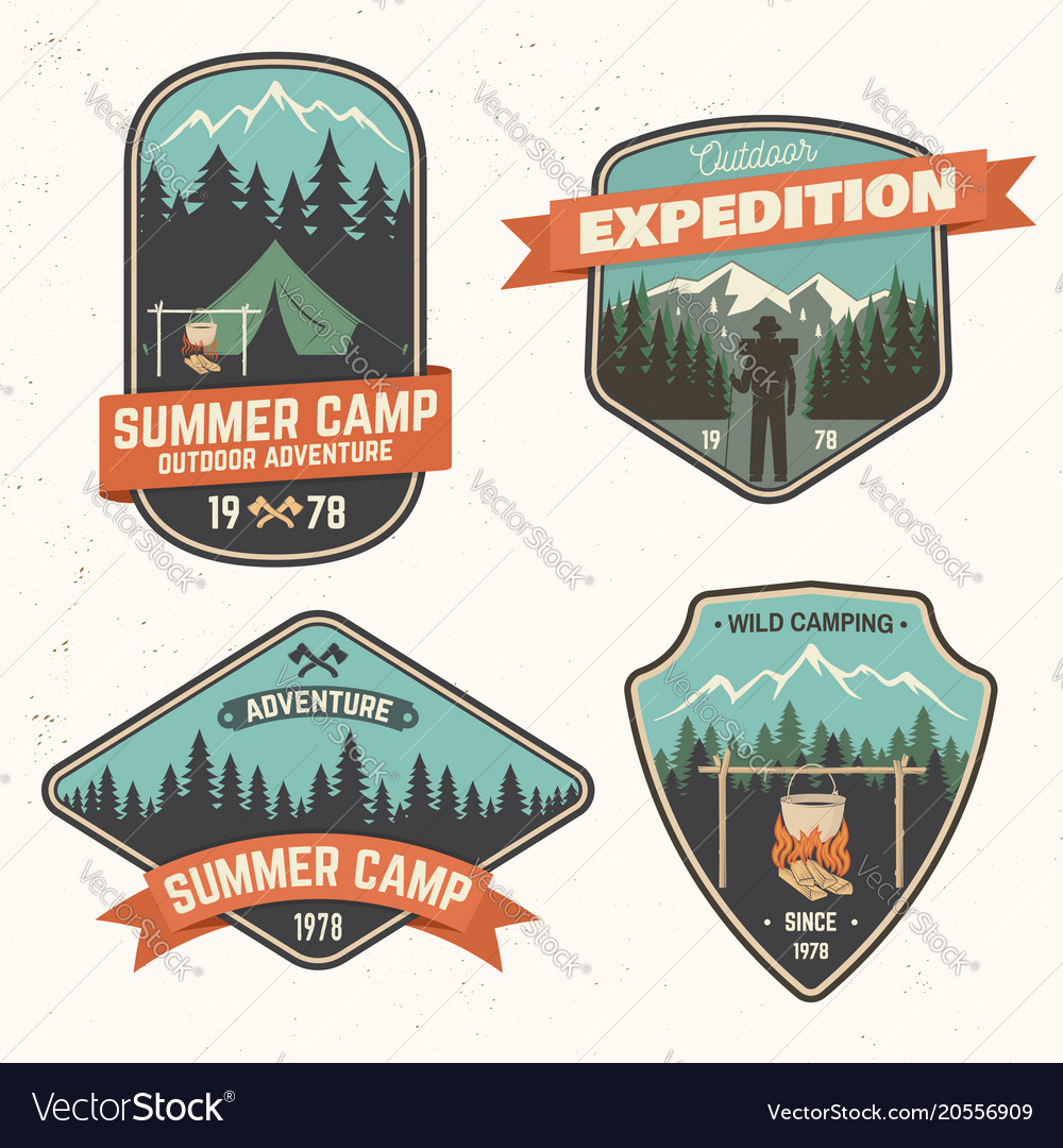 Summer camp patch concept