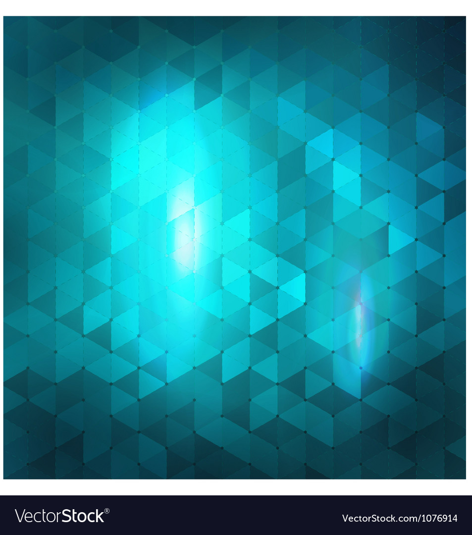Blue abstract mosaic background vector image