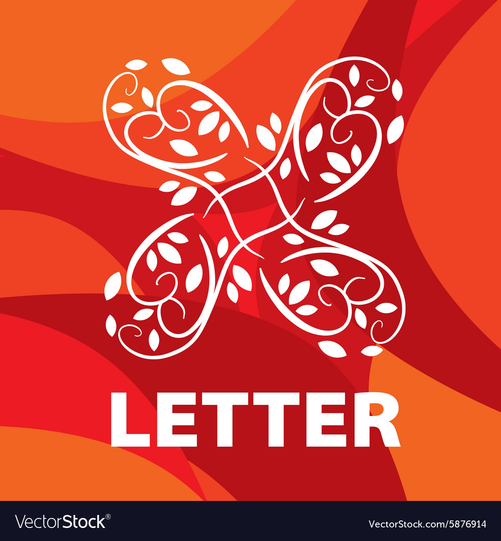 Logo of the letter X floral ornament