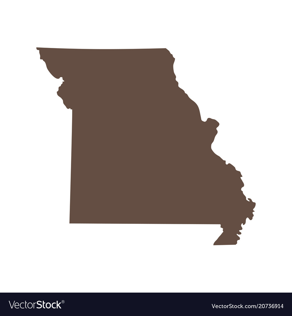 Map Of The Us State Of Missouri Royalty Free Vector Image