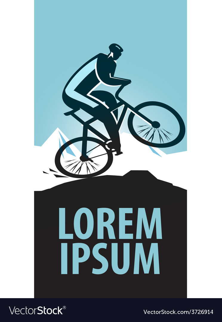 Mountain bike logo design template sports vector image