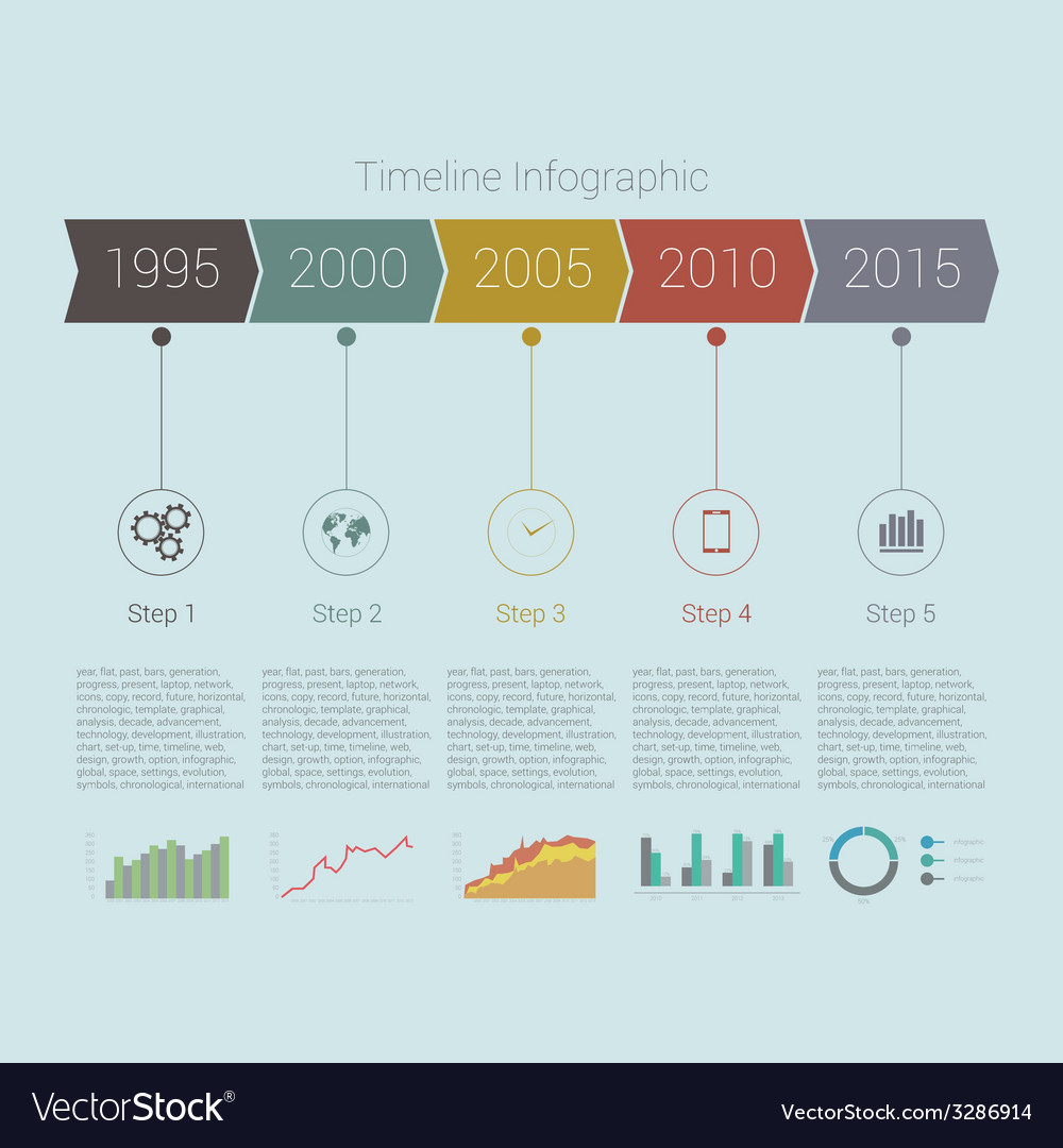 Retro Timeline Infographic design
