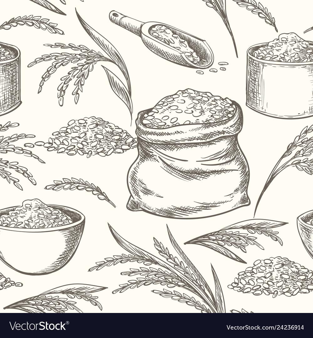 Rice doodle pattern