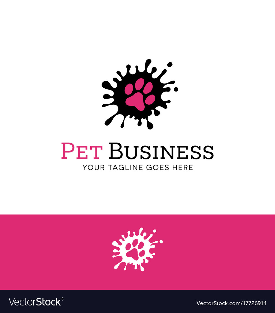 Splatter paw print logo