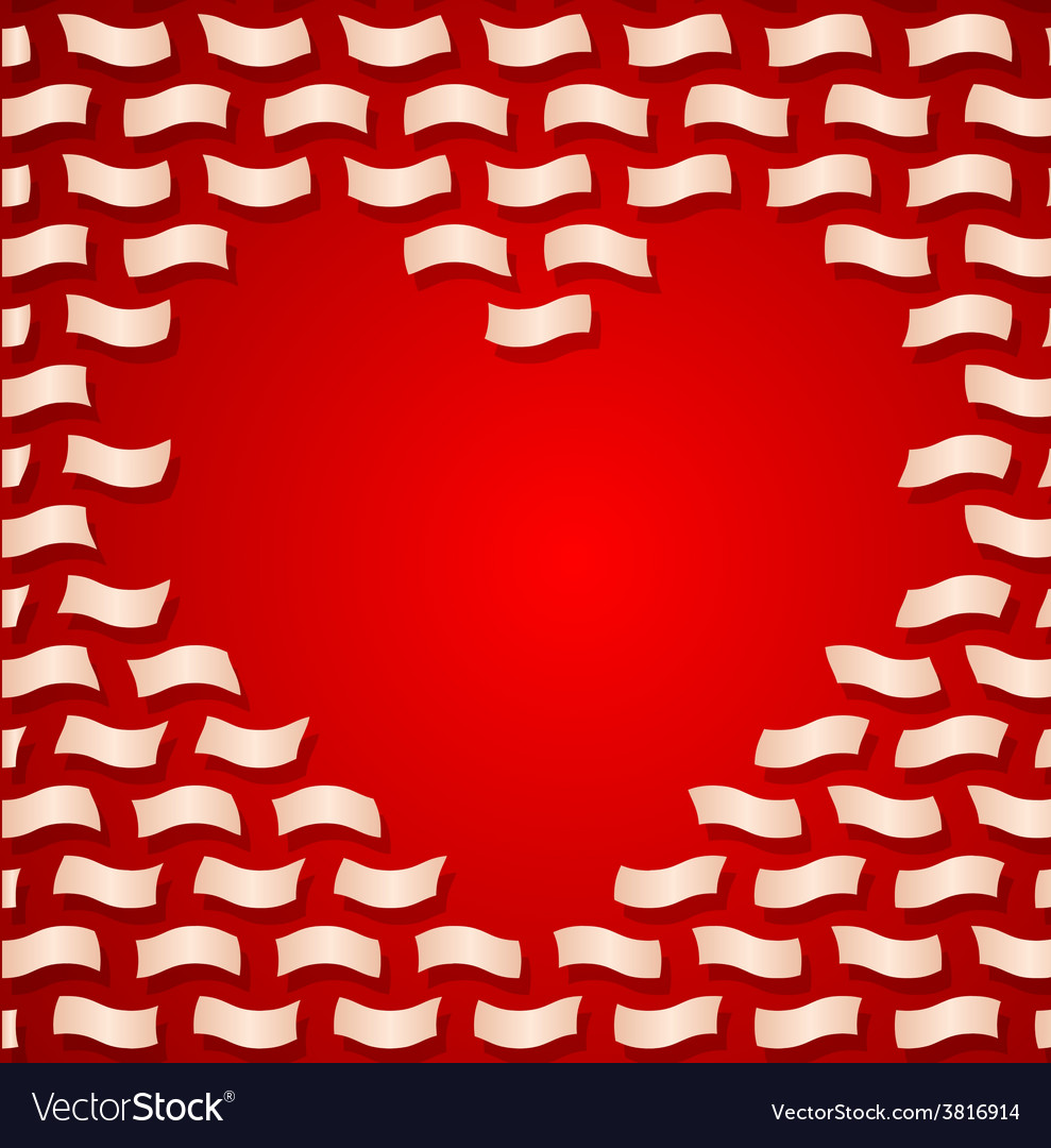 Valentine day background with flying letters vector image