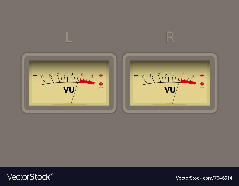Vu Meter Royalty Free Vector Image Vectorstock