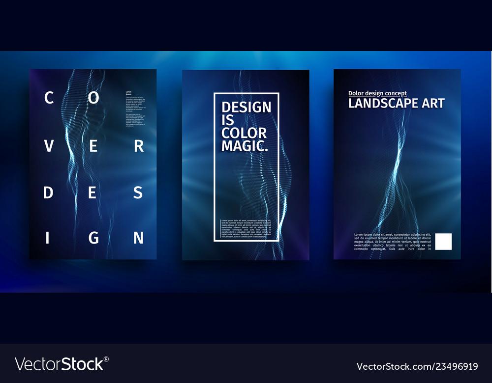 Blue poster design music wave blue banner