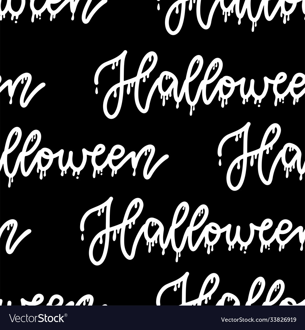 Halloween pattern seamless only with lettering