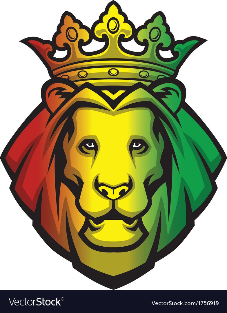 Lion rasta head vector image