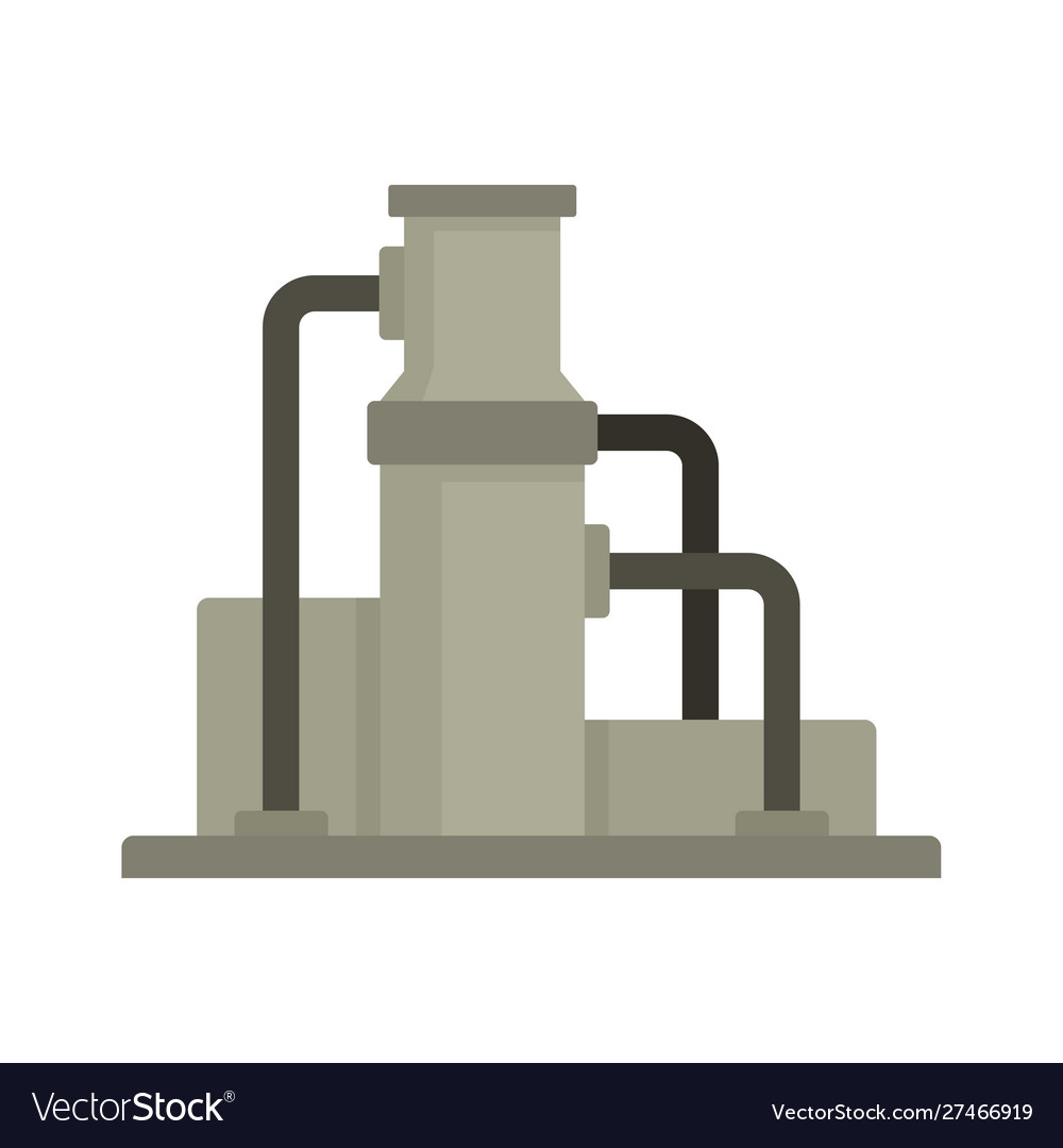 Oil refinery icon flat style