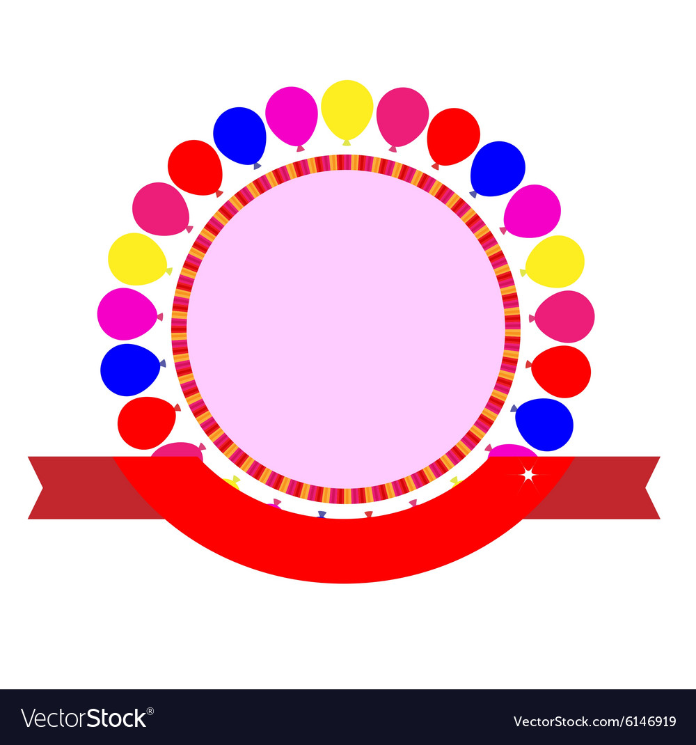 Party celebration template vector image