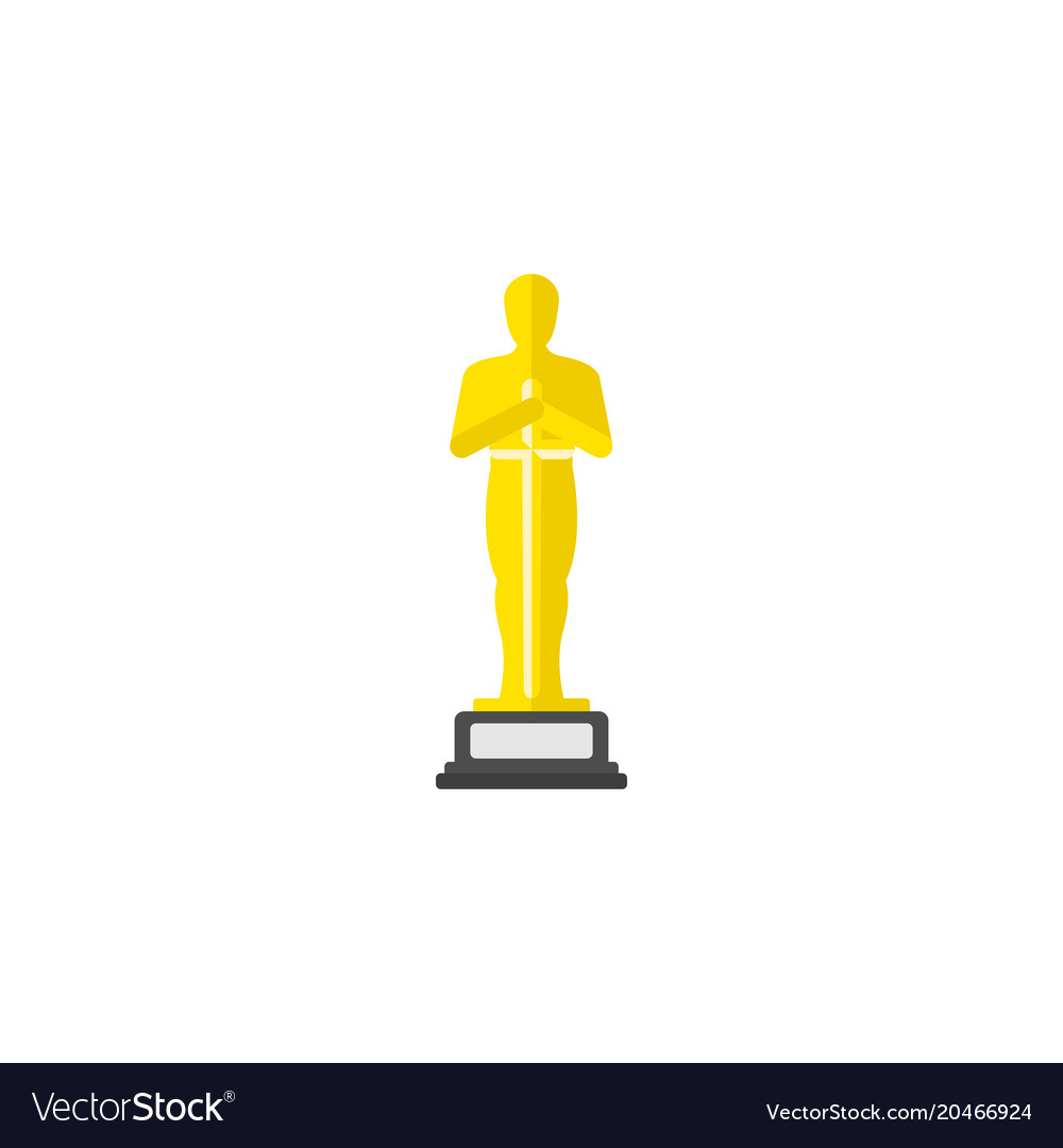 Academy award icon in flat style