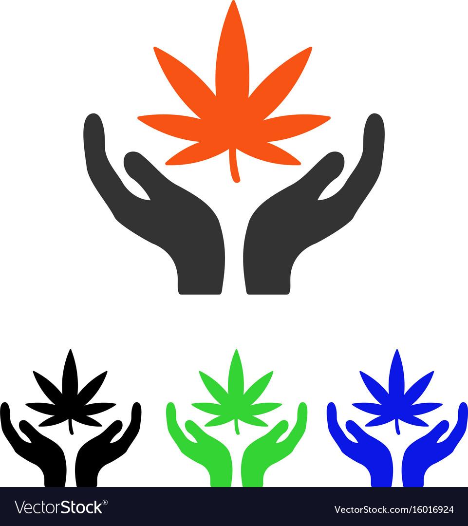Cannabis care flat icon