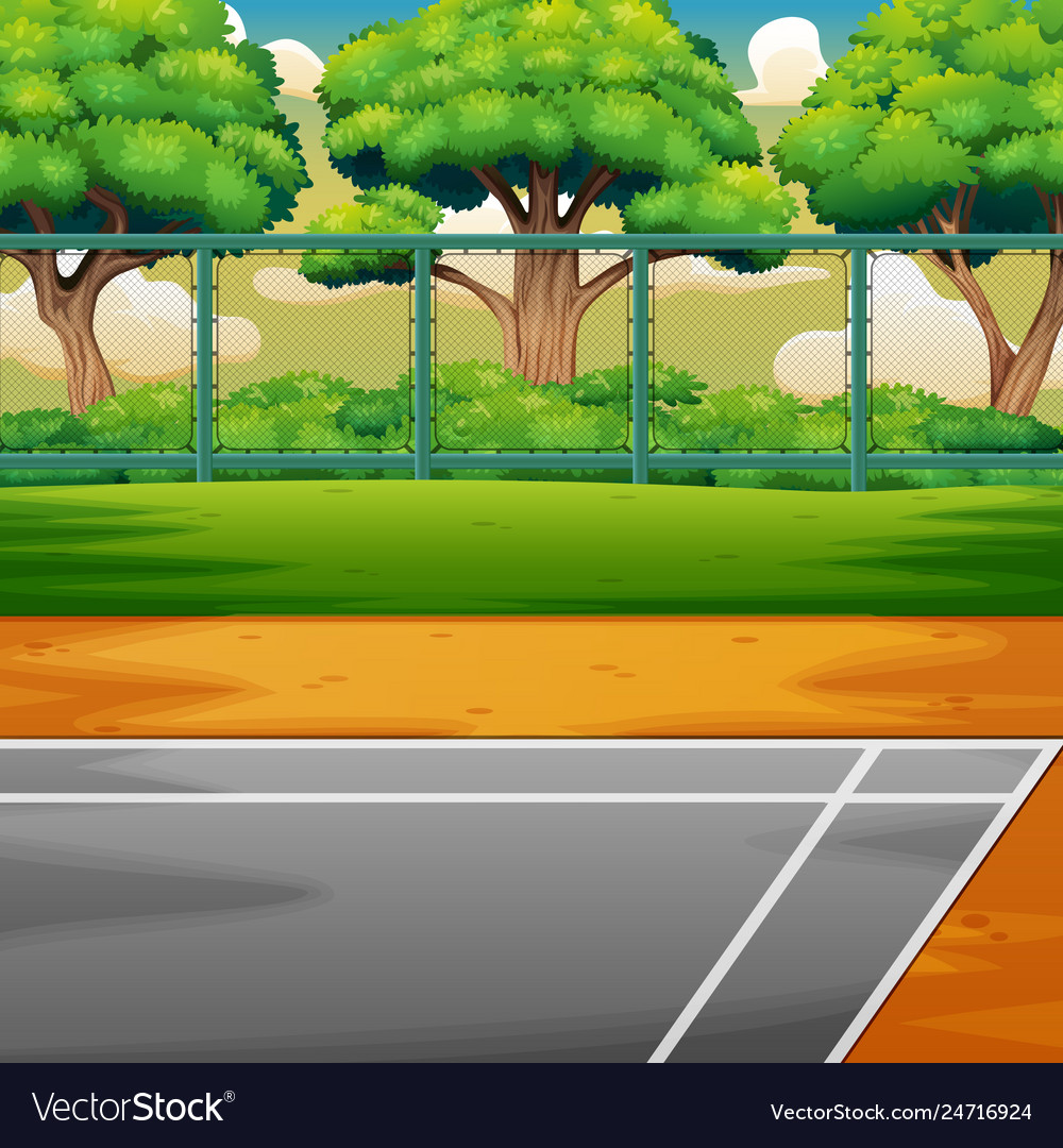 Cartoon Sports Ground On The Nature Royalty Free Vector