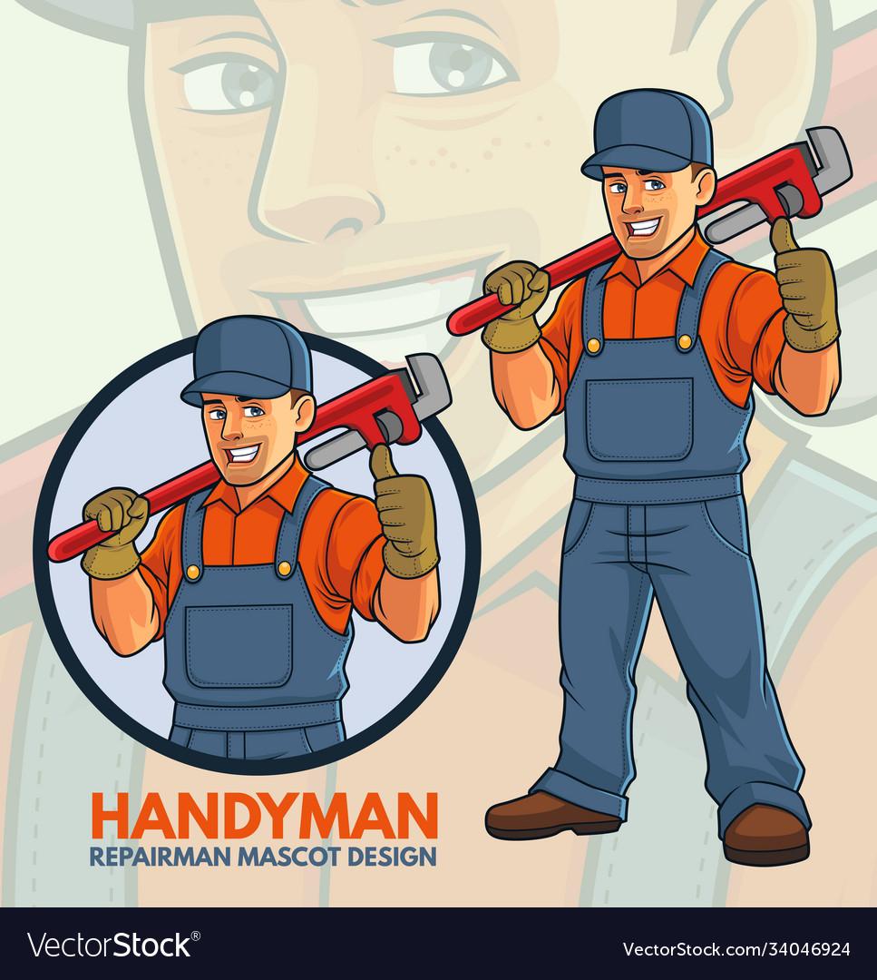 Repairman mascot design