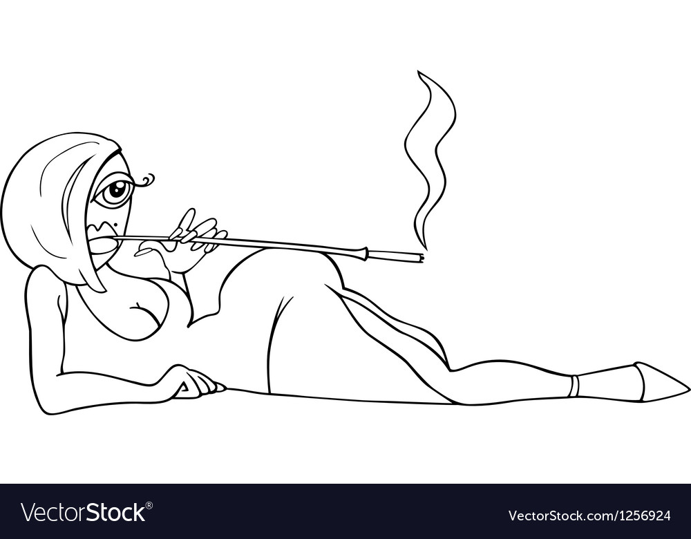 Sexy woman in dress cartoon