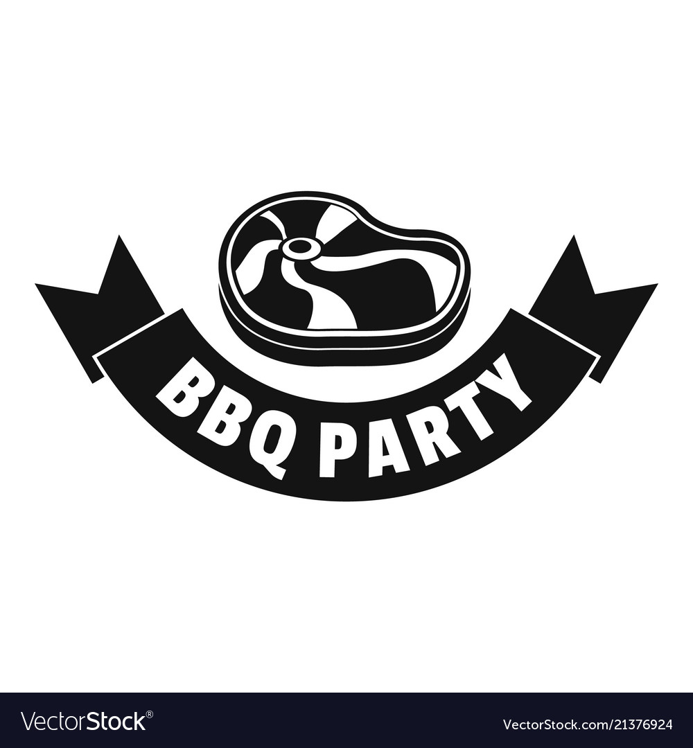 Steak bbq party logo simple style