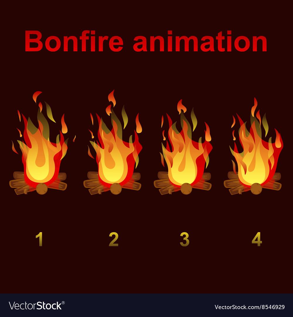 Bonfire animation sprites for game design