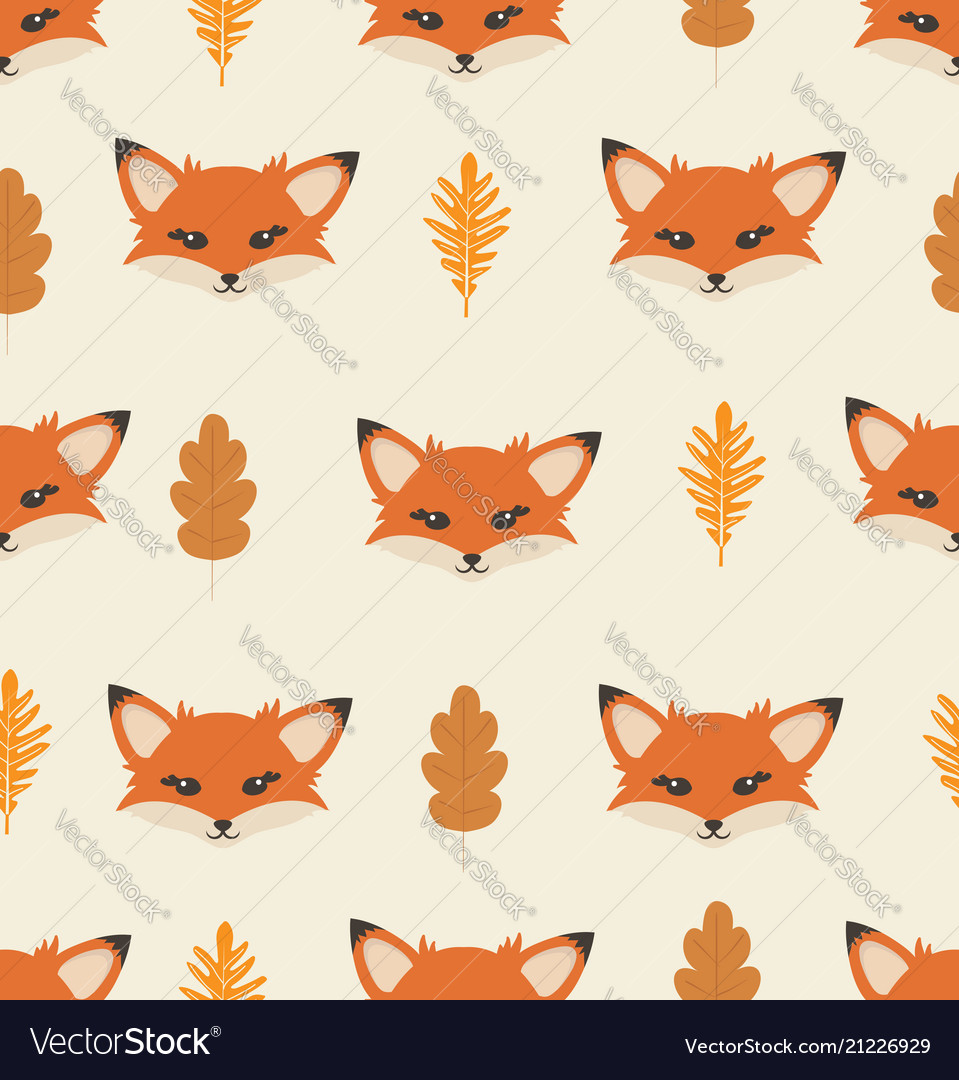 Head fox with different elements pattern