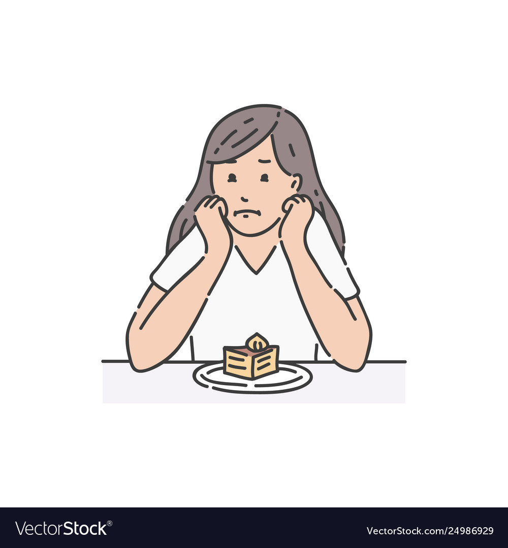 Sad female sitting at table propping head and