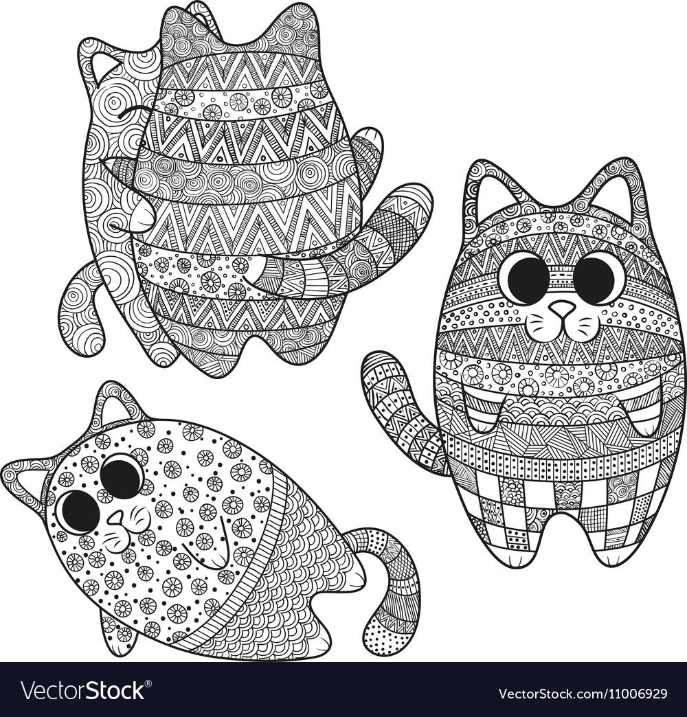 Set of boho cats
