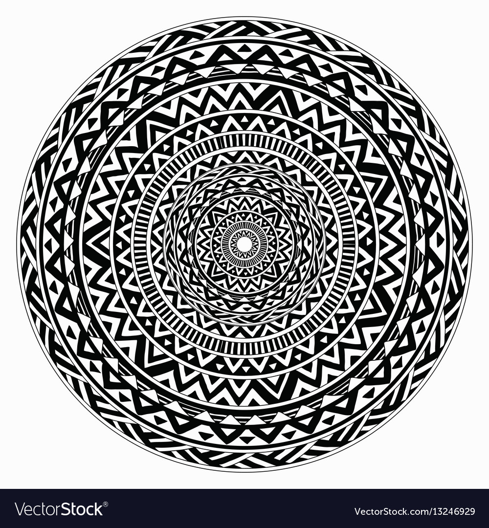 Tribal folk aztec geometric pattern in vector image