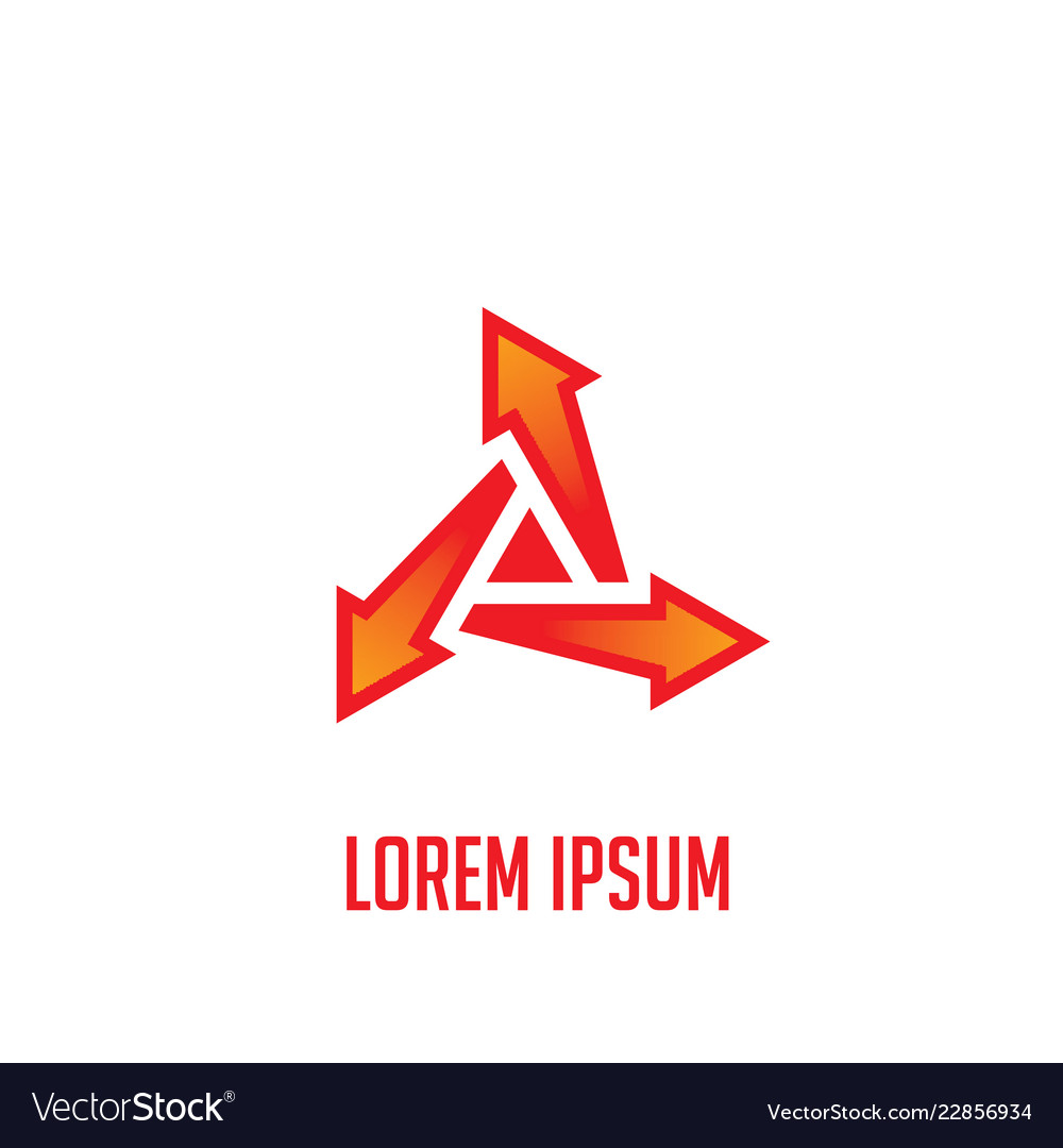 Arrow triangle business logo