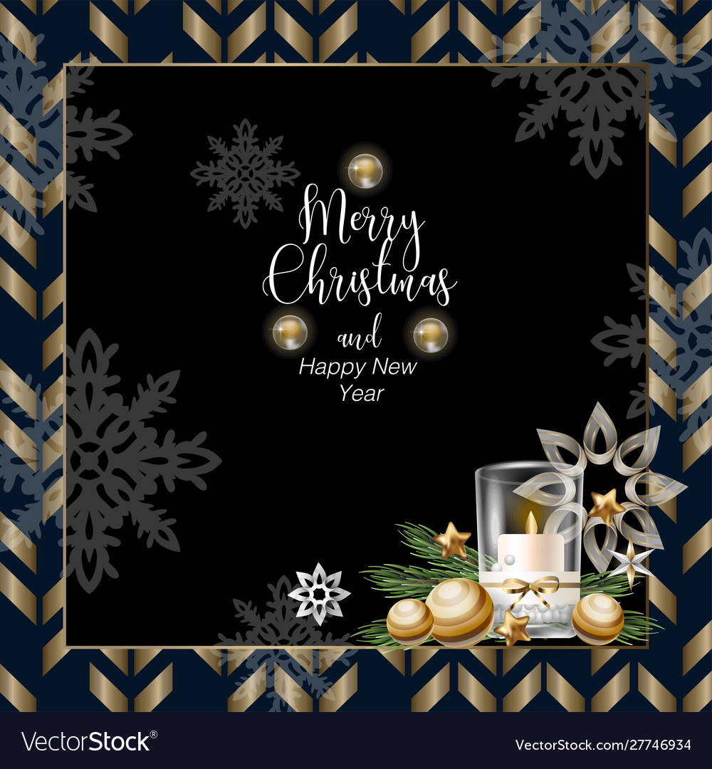 Christmas banner or postcard with candle