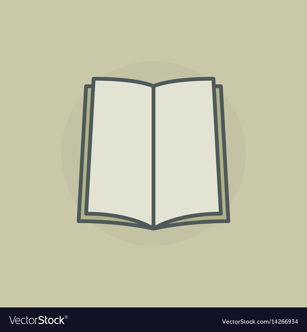 Colorful open book icon vector image