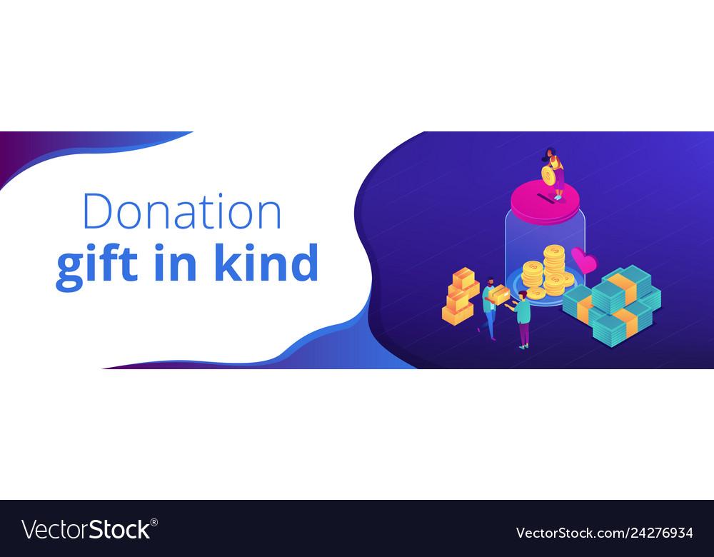 Donationisometric 3d banner header