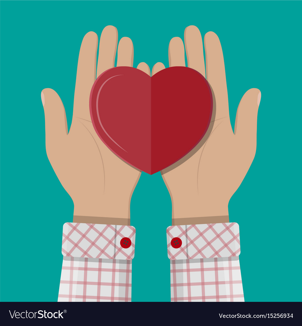 Hands giving red heart