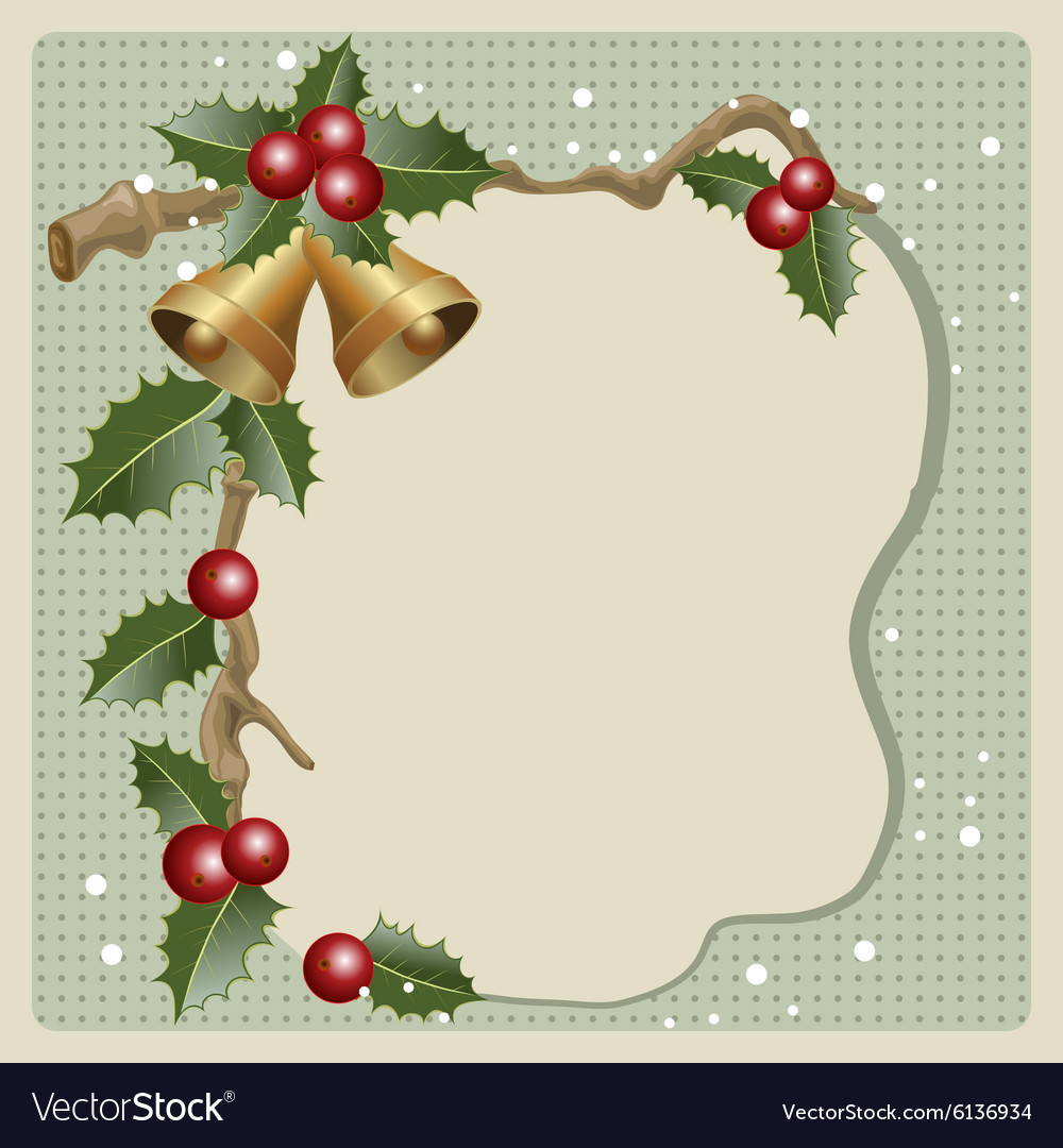 Old Christmas card Royalty Free Vector Image - VectorStock
