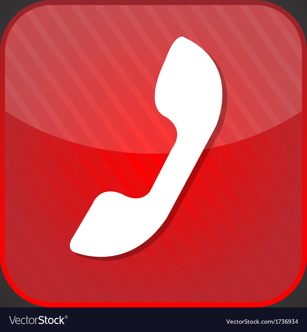 Phone icon - red app button