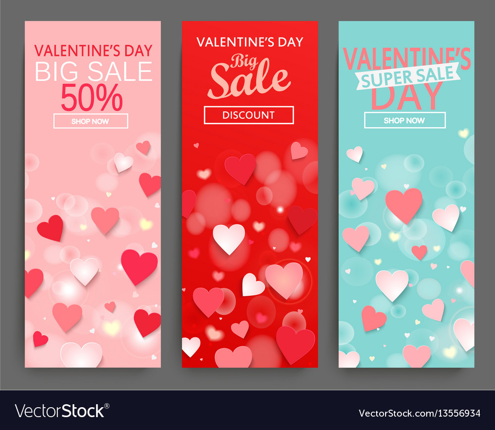 Sale header for happy valentines day celebration