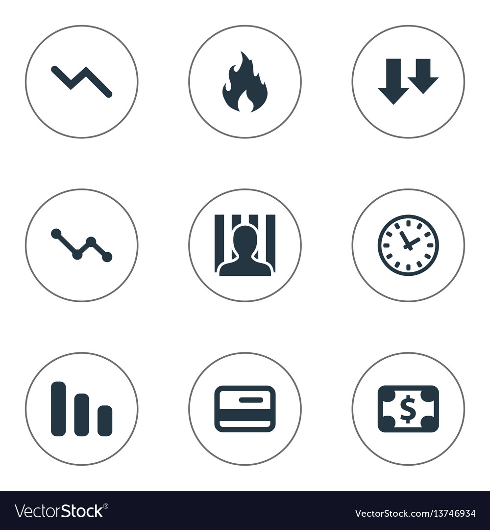 Set of simple situation icons