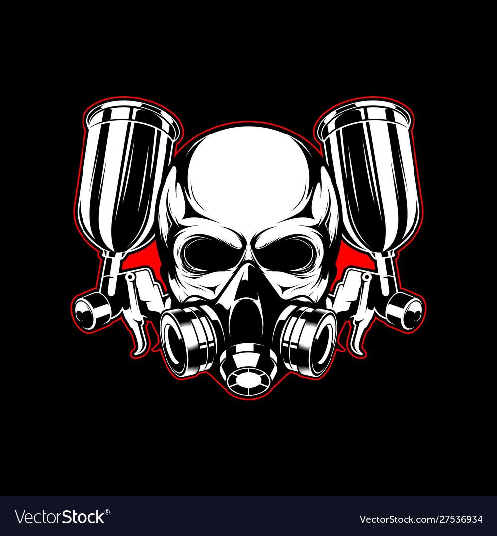 Skull paint logo template