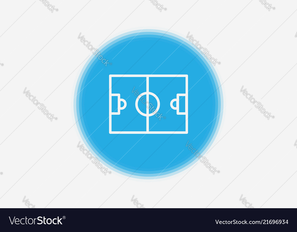 Soccer field icon sign symbol