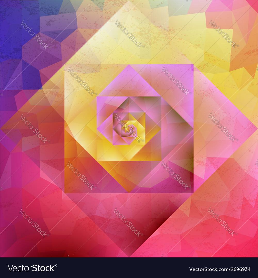 Vibrant vintage optic art geometric pattern vector image