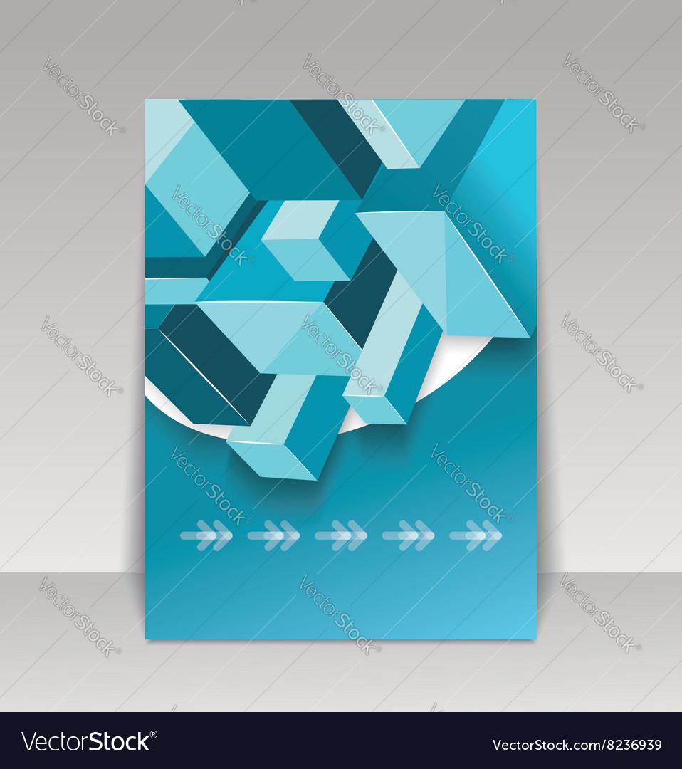 Brochure cover design template