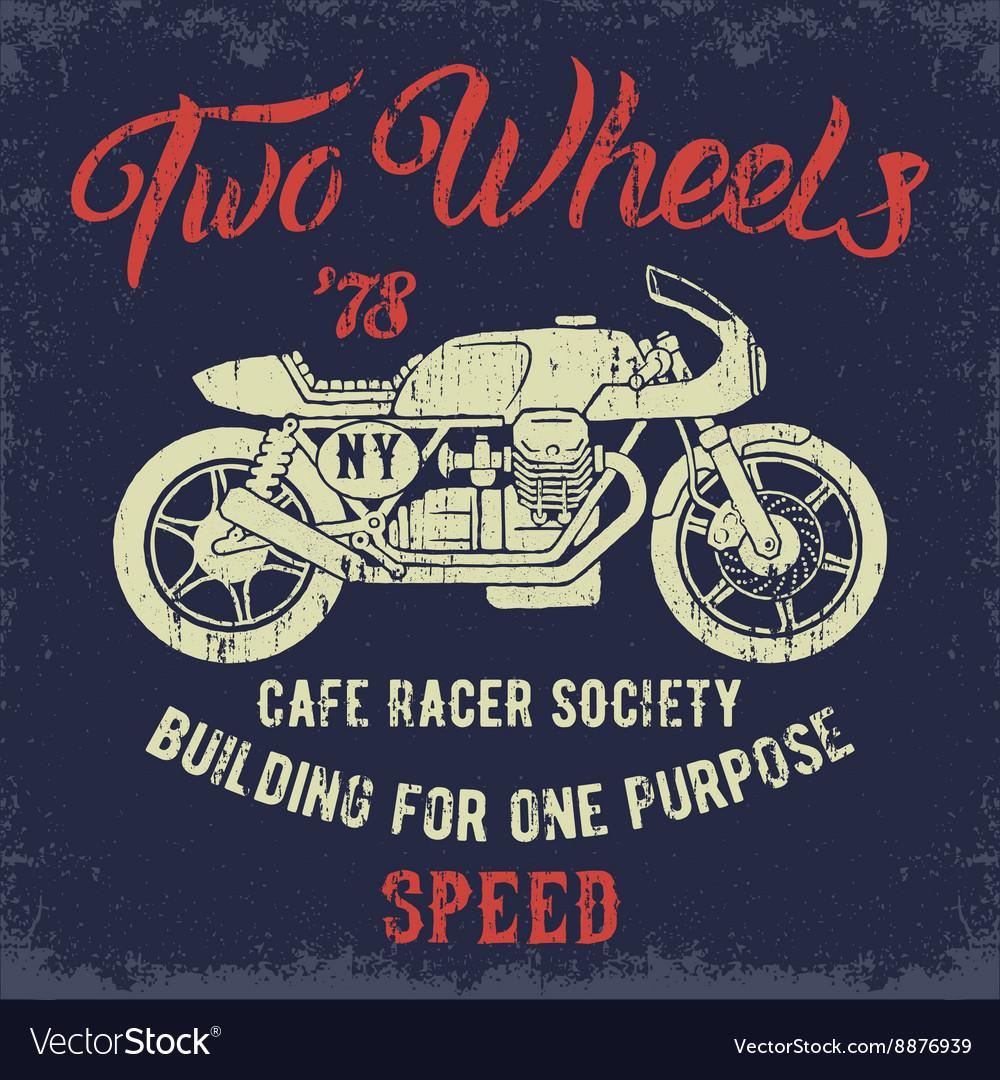 Cafe Racer print design