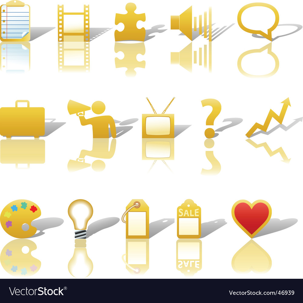 Communications media business icons