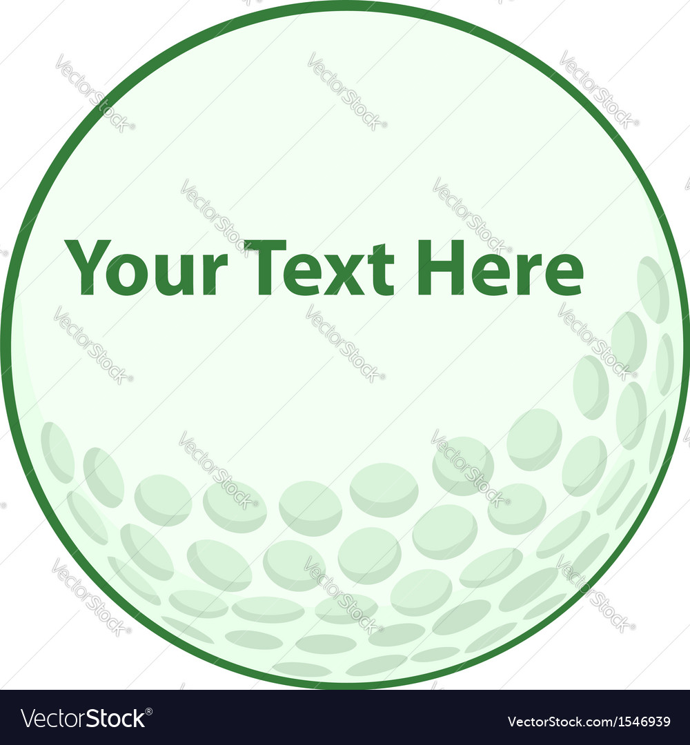 Golf ball logo vector image