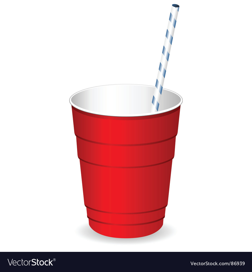 Plastic party cup vector image