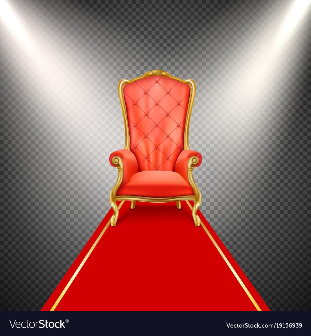 Groovy Realistic Throne Chair With Red Carpet Inzonedesignstudio Interior Chair Design Inzonedesignstudiocom