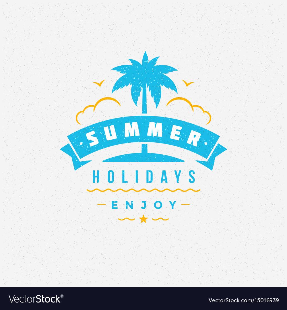 Summer holidays poster design on textured