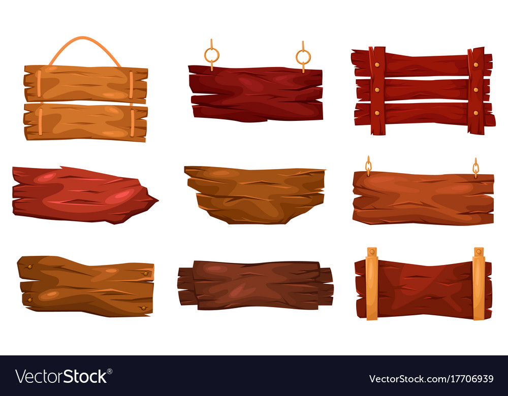 Wooden wild west signs or old western boards vector image