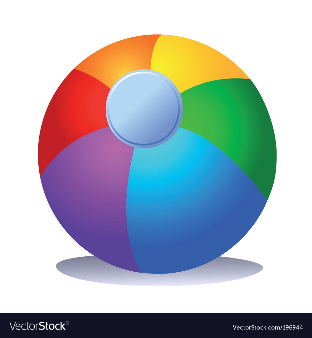 Colorful beach ball vector