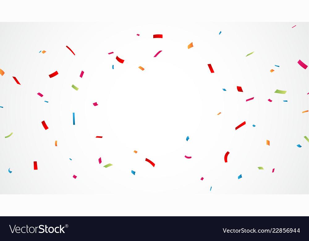 Falling colorful confetti background